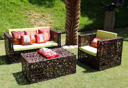 Плетеная Мебель Из Искусственного Ротанга Для Дачи