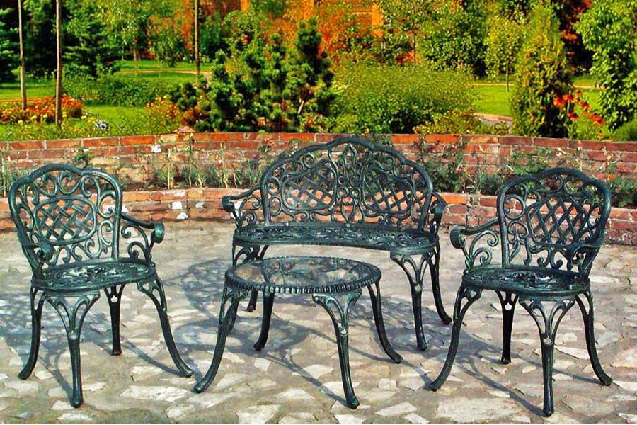 Садовые столы из чугуна