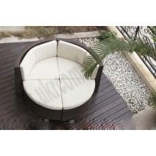 Круглый диван из техноротанга 0360