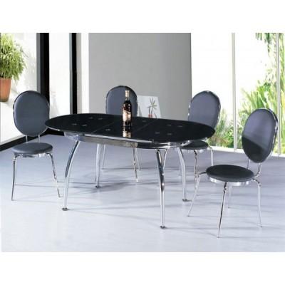 Стеклянный стол кухонный 42А