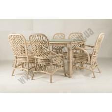 Обеденный комплект Феофания Премиум (стол +6 стульев)
