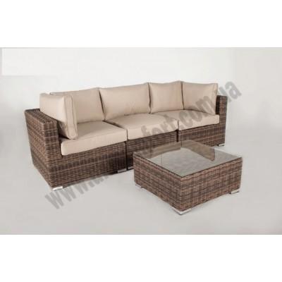 Модульный диван тройка + столик Раунд