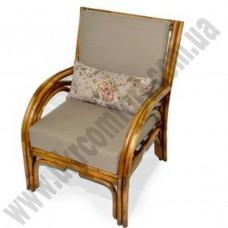 Кресло из ротанга с подушкой 6021