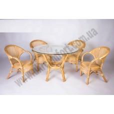 Обеденный комплект Гурзуф (стол +4 кресла)