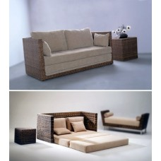 Трёхместный диван из натурального ротанга RA-105-2