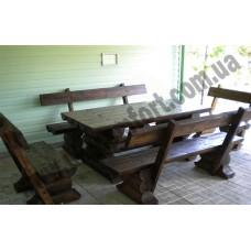 Комплект стол со скамейками со сруба Bogatyr2
