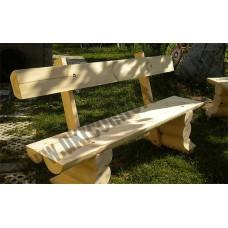 Скамейка со спинкой со сруба Ivanushka