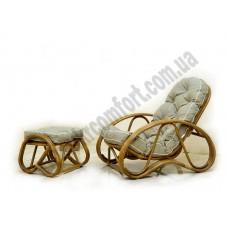 Кресло с пуфом Set
