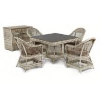 Обеденный комплект ротанговой мебели Марселино