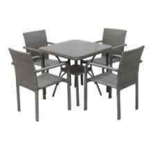 Обеденный набор из ротанга с квадратным столом Тропикано
