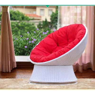 Поворотное кресло из искусственного ротанга Lazy