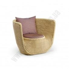 Полукруглое ротанговое кресло 6184