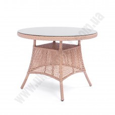 Круглый стол из искусственного ротанга 6071
