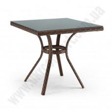 Плетёный квадратный стол из ротанга 6073